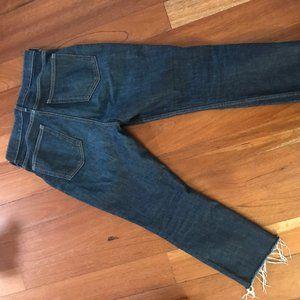Everlane Kick Crop Jean, Dark Blue Wash
